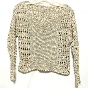 Ecote Urban Outfitters crochet cropped sweater (G)